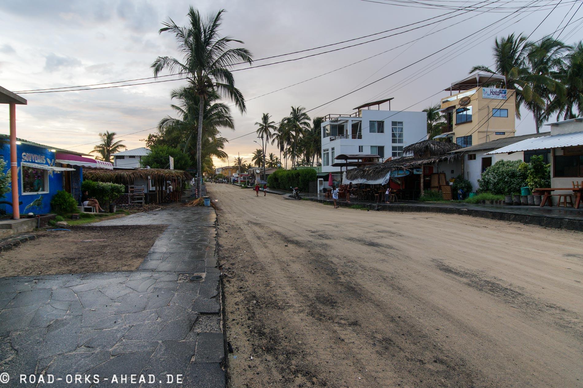 Die Straßen von Puerto Villamil