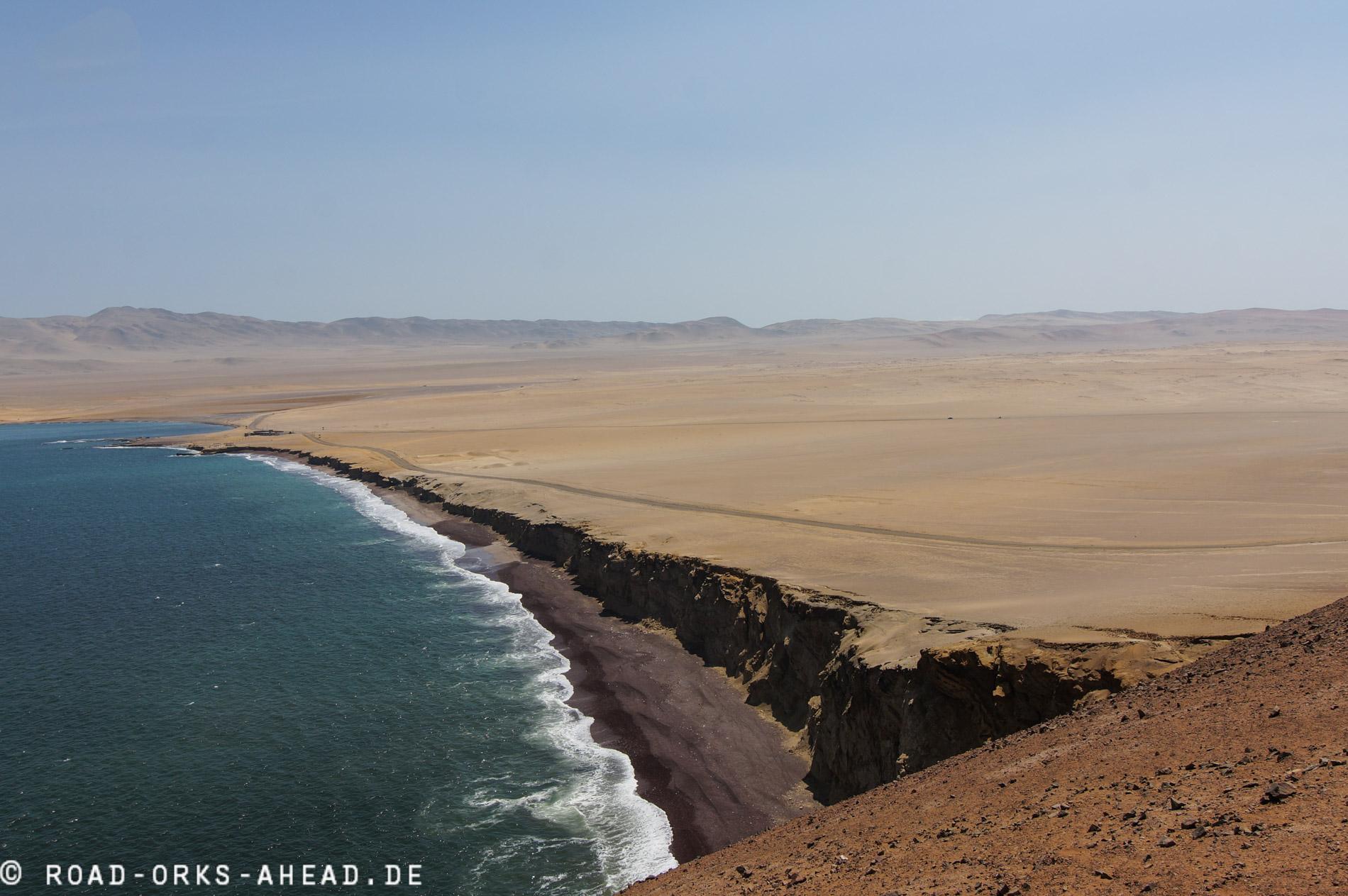 Einsame Paracas Küste