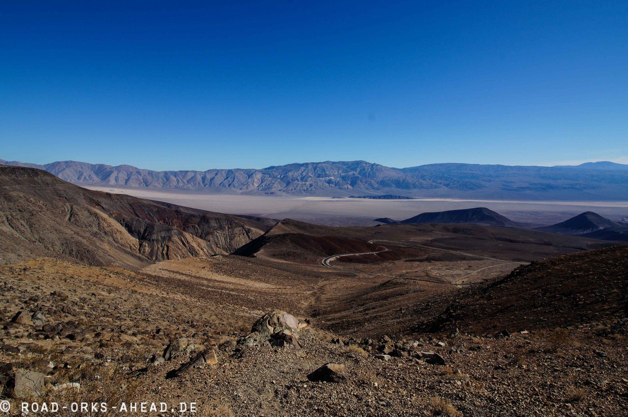 Weg ins Death Valley