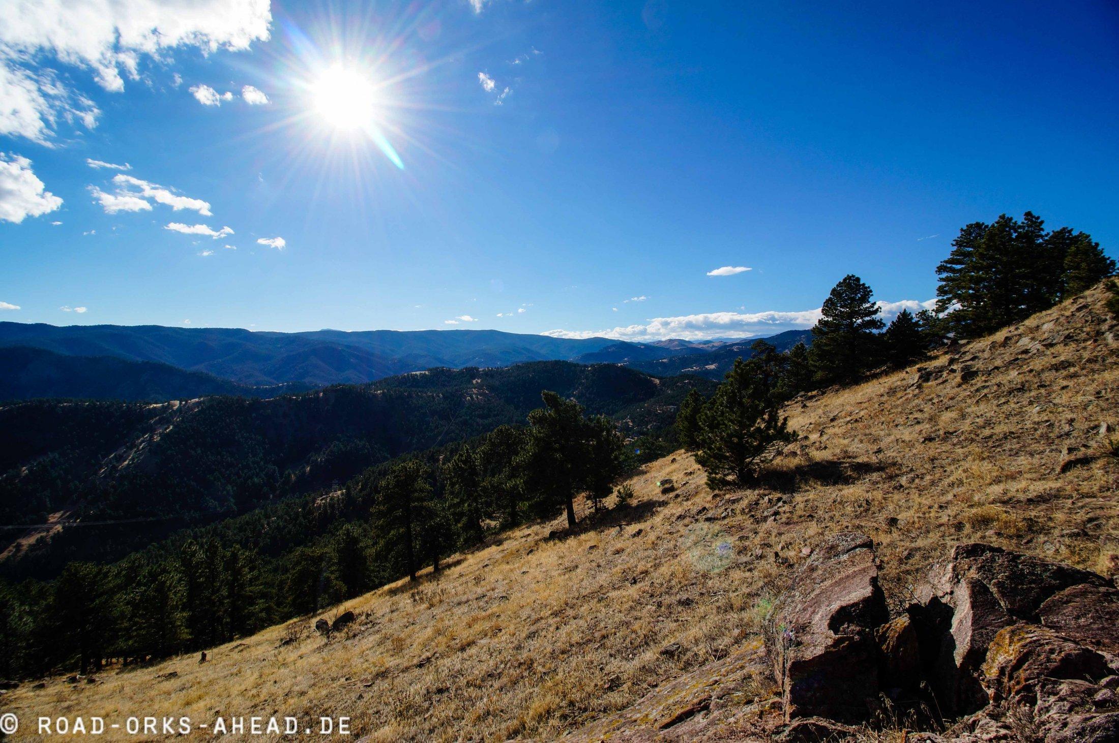 Blick vom Boulder Hausberg
