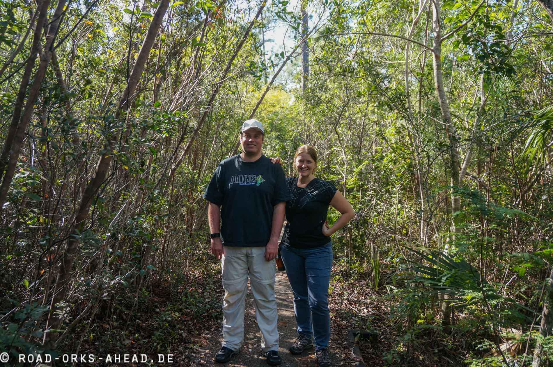 Frede und Natalie beim Wandern