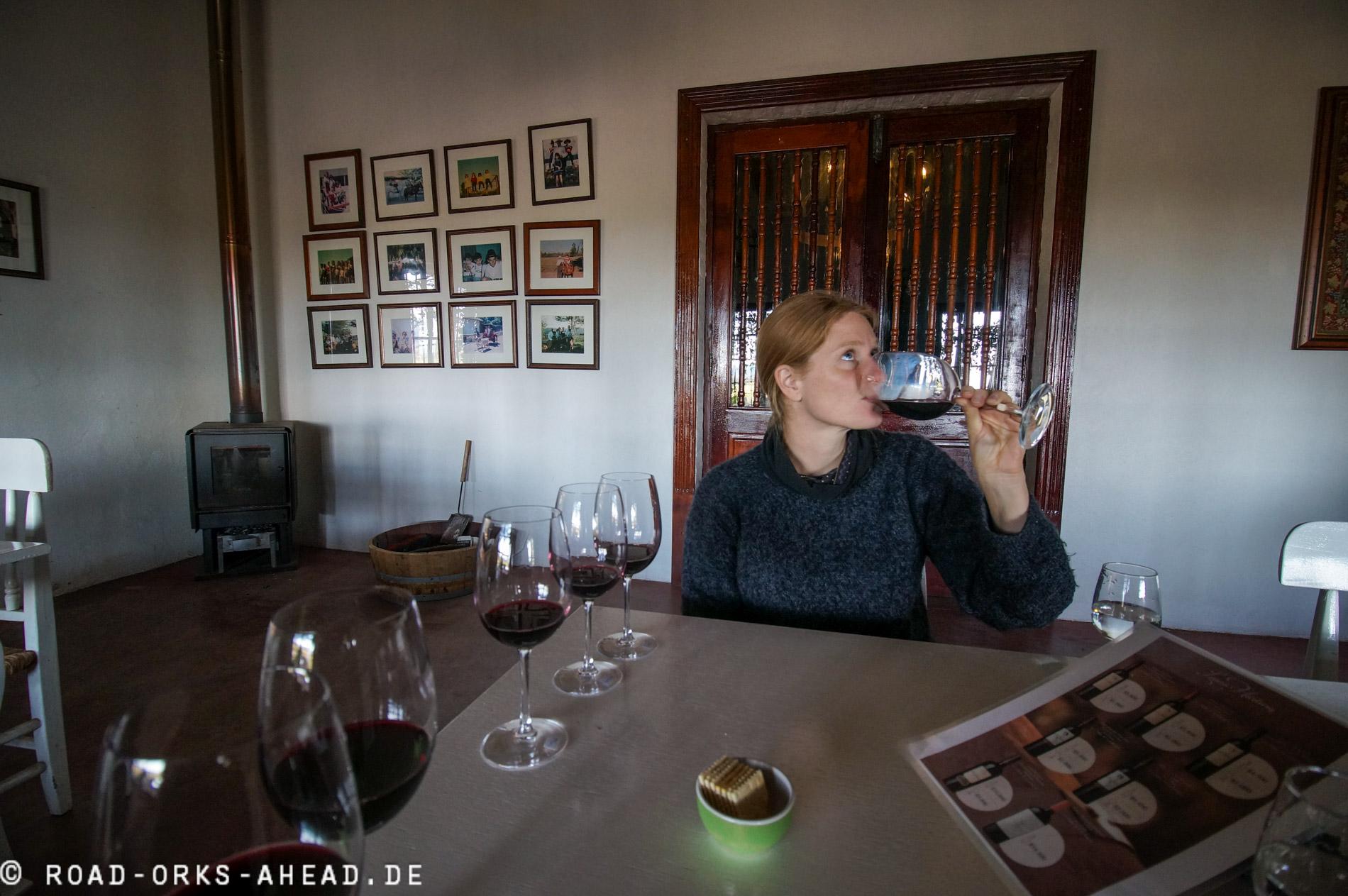 Weinprobe in Santa Cruz