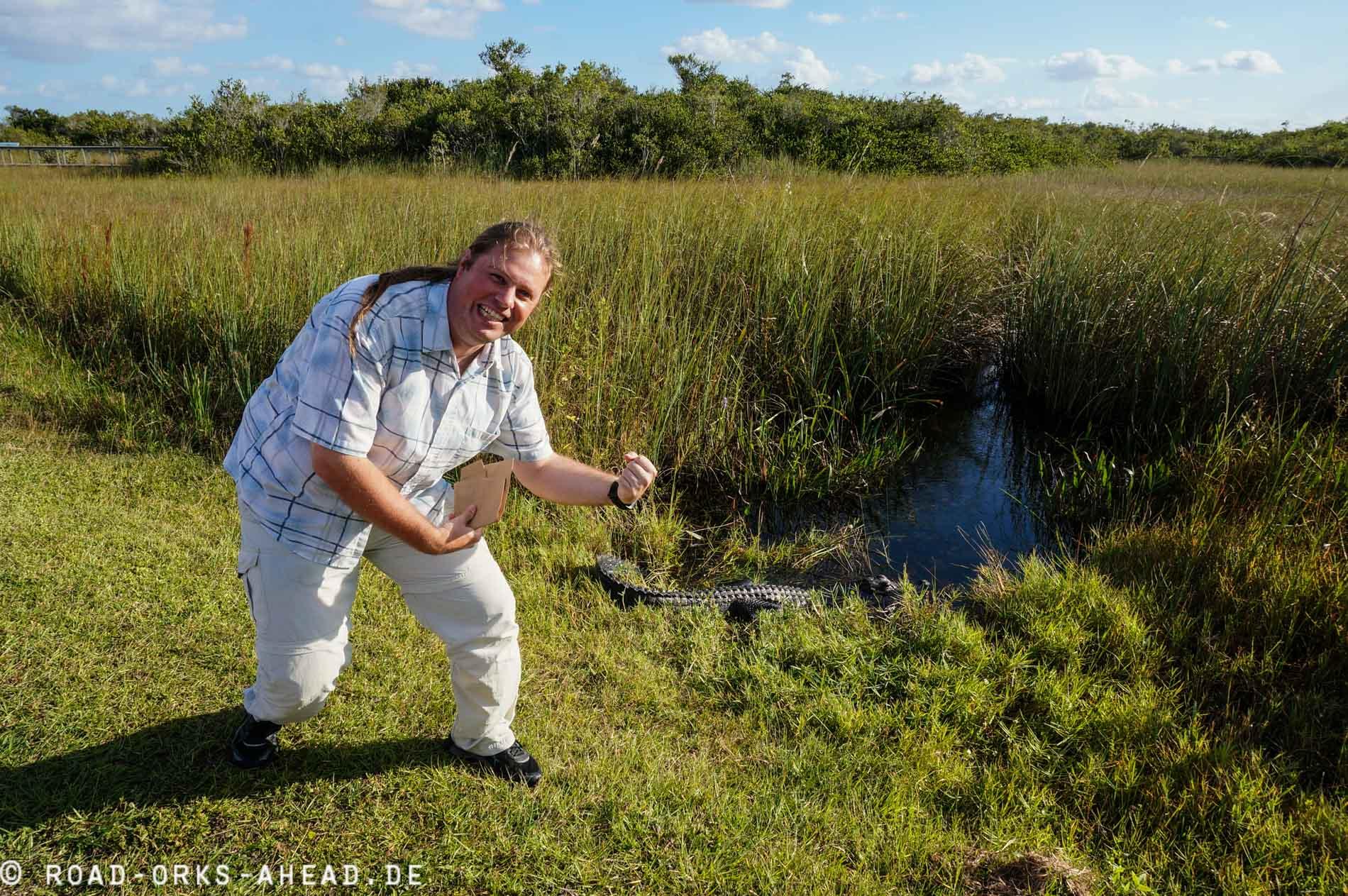 Frede erlegt einen Alligator