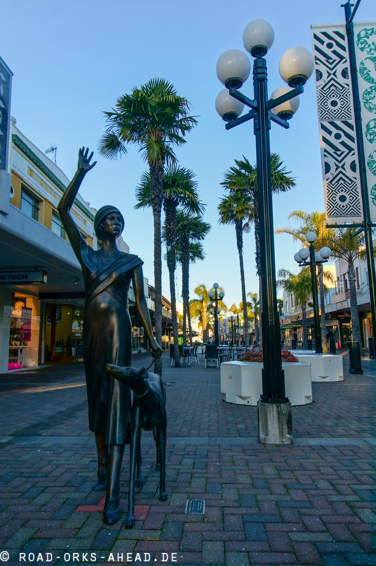 Fußgängerzone Napier - Art-Deco überall