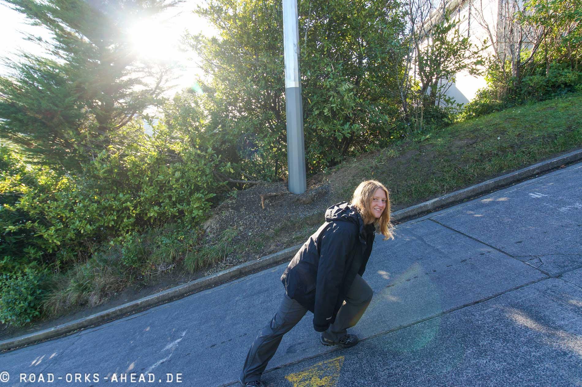 Die steilste Straße der Welt---Baldwin Street