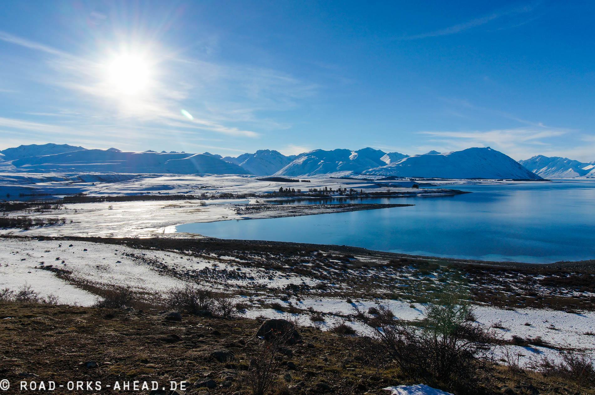 Lake Tekapo im Winter