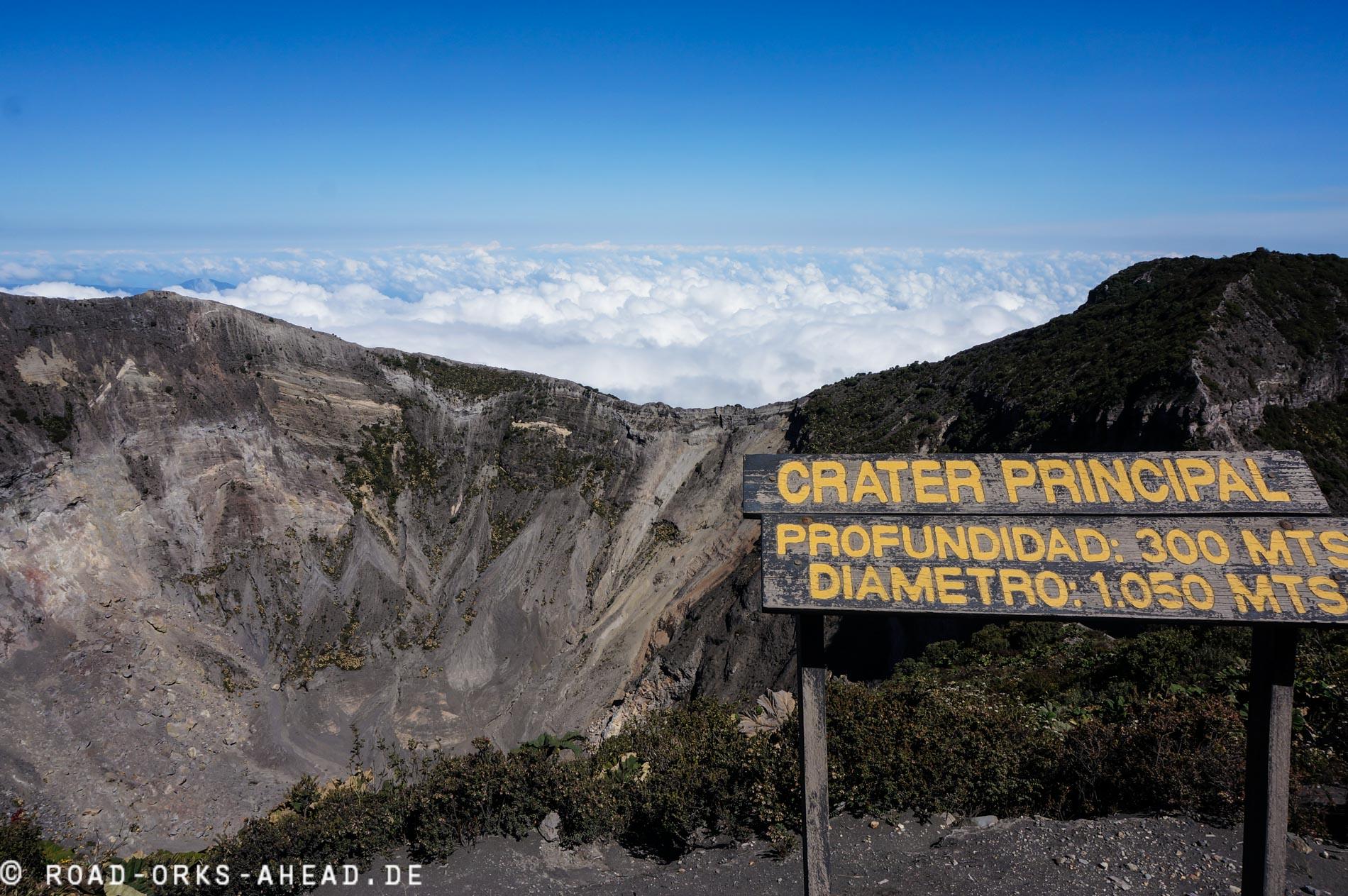 Vulkan Irazu - Crater Principal