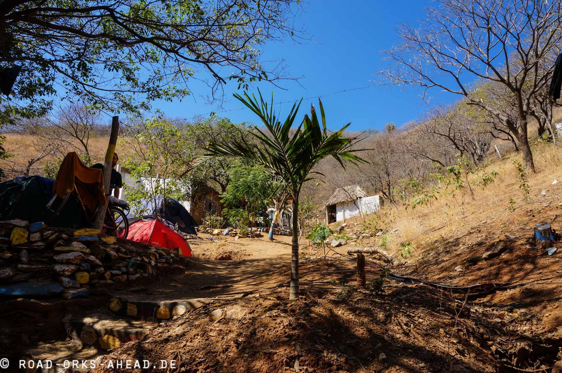 Unsere Unterkunft...ein Zelt
