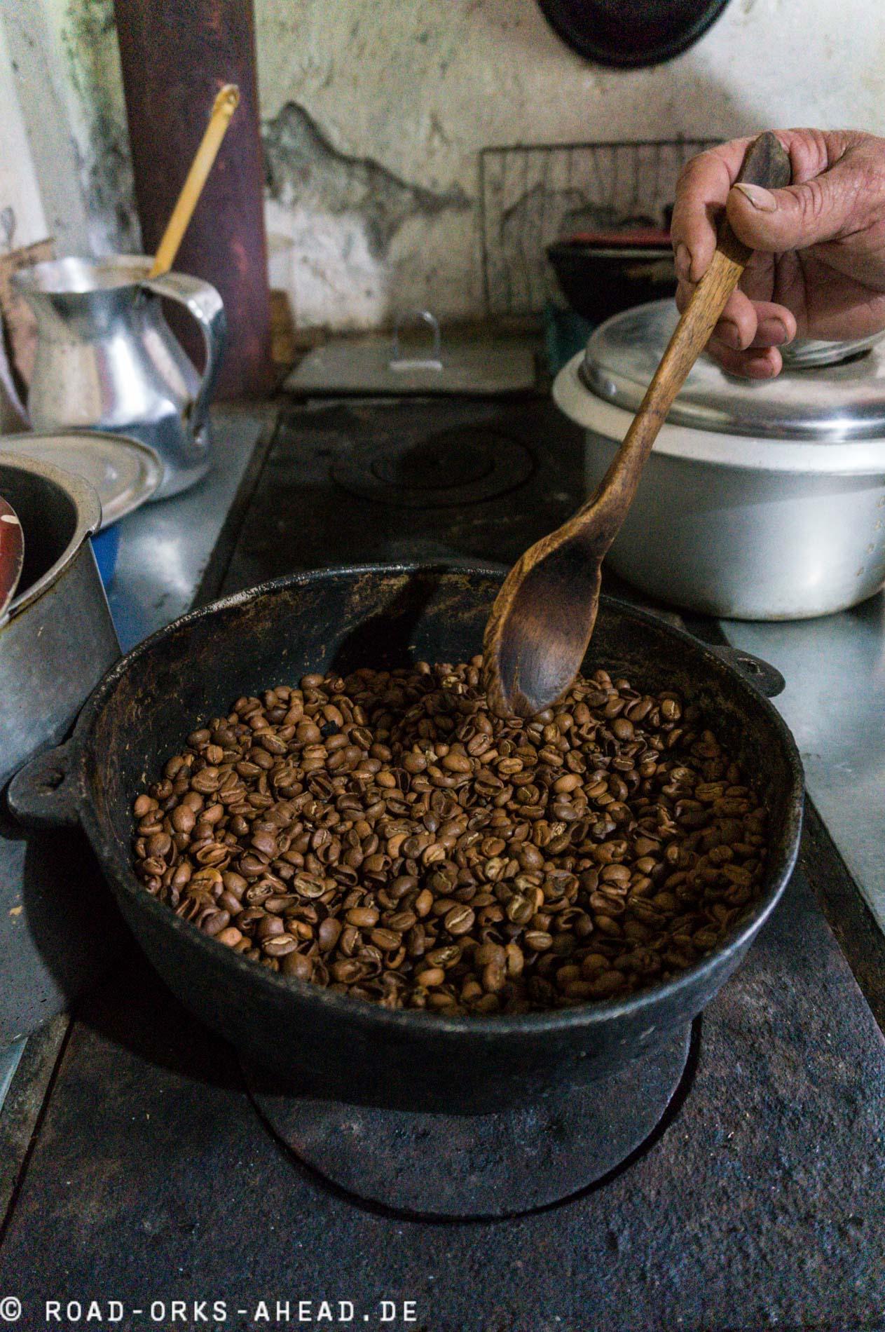 Kaffeeröstung im Miniaturformat