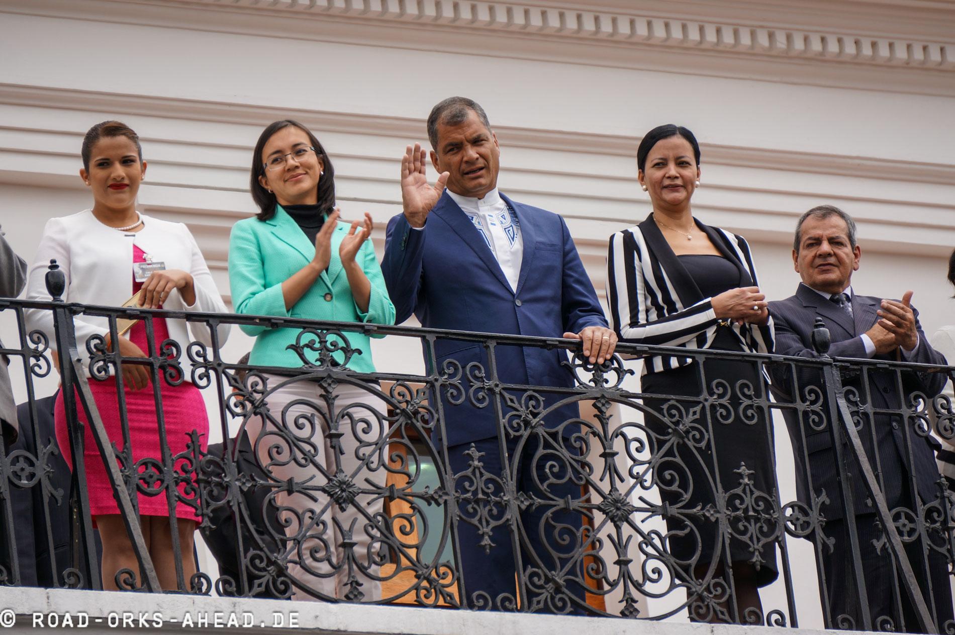 Rafael Correa - mittlerweile Ex-Präsident