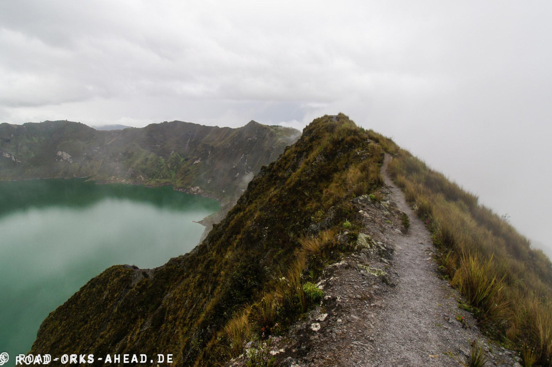 Quilotoa Loop, ganz schön steil