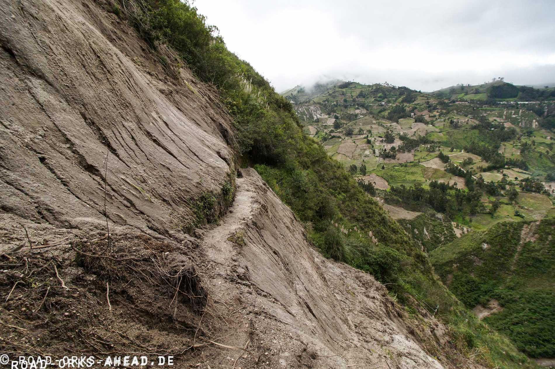 2 Tag Quilotoa Loop...Erdrutsch