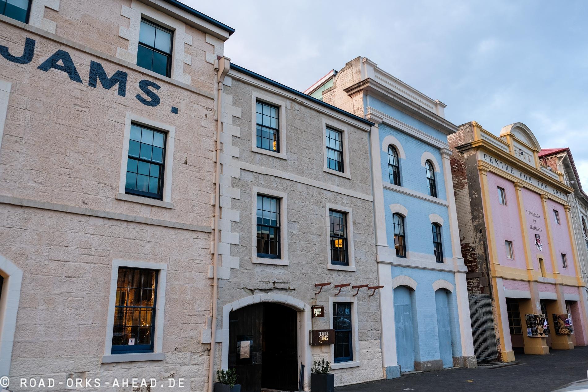 Hobart Häuserfronten