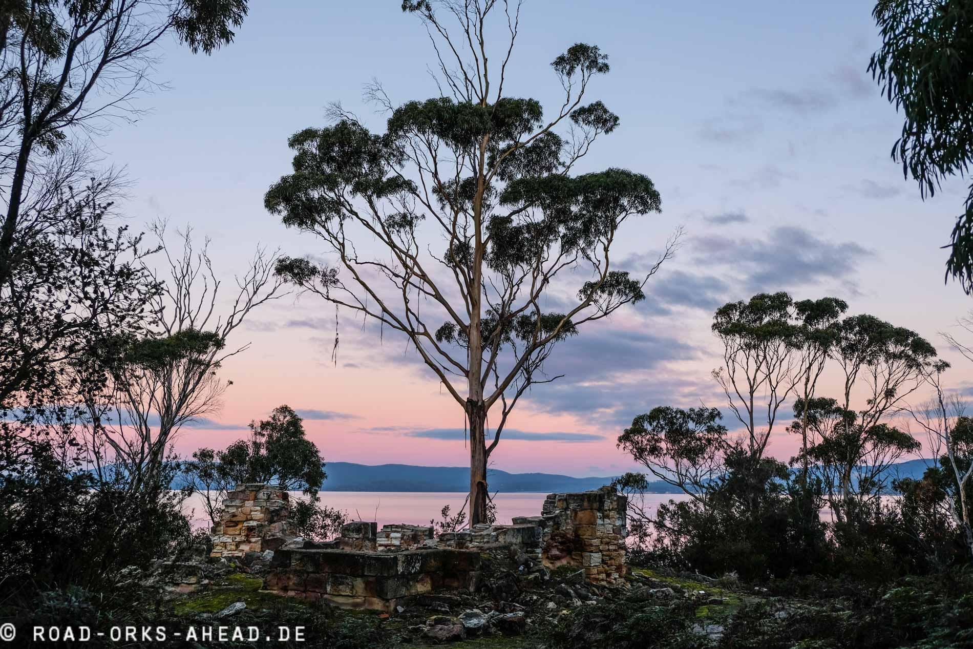 Sonnenuntergang Tasmaniens Ostküste