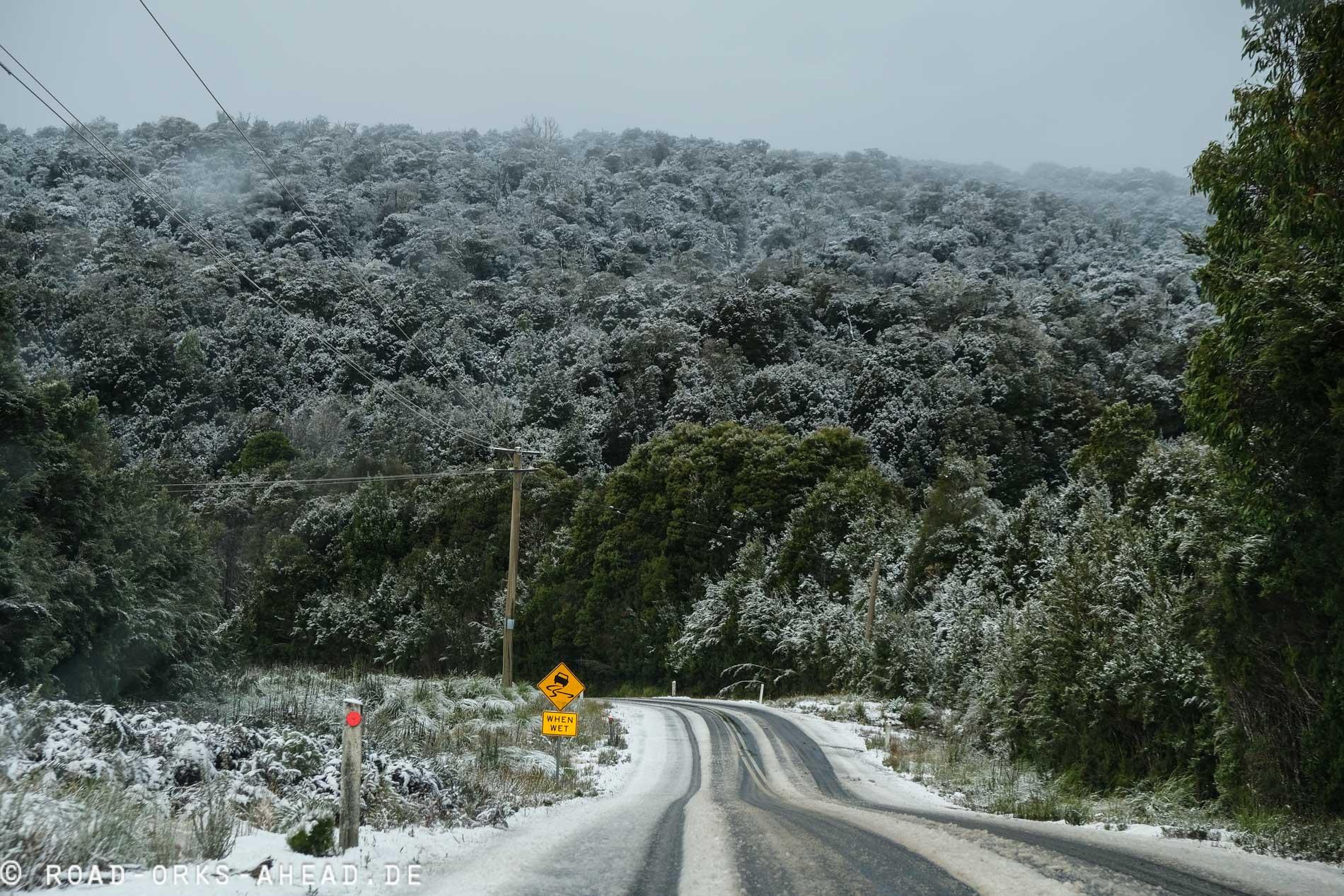 Wintereinbruch in den tasmanischen Bergen