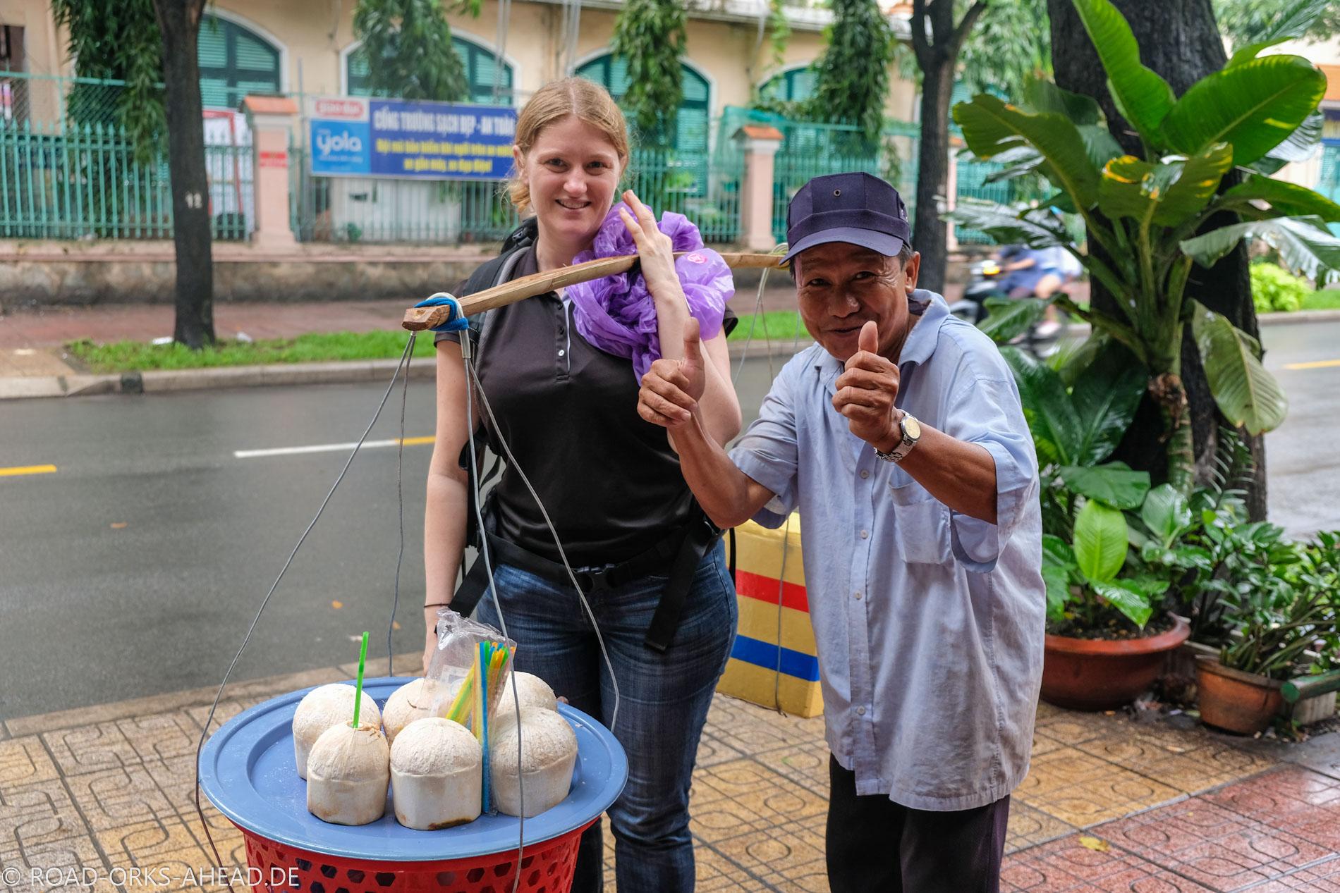 Das Bild hat eine Kokosnuss gekostet