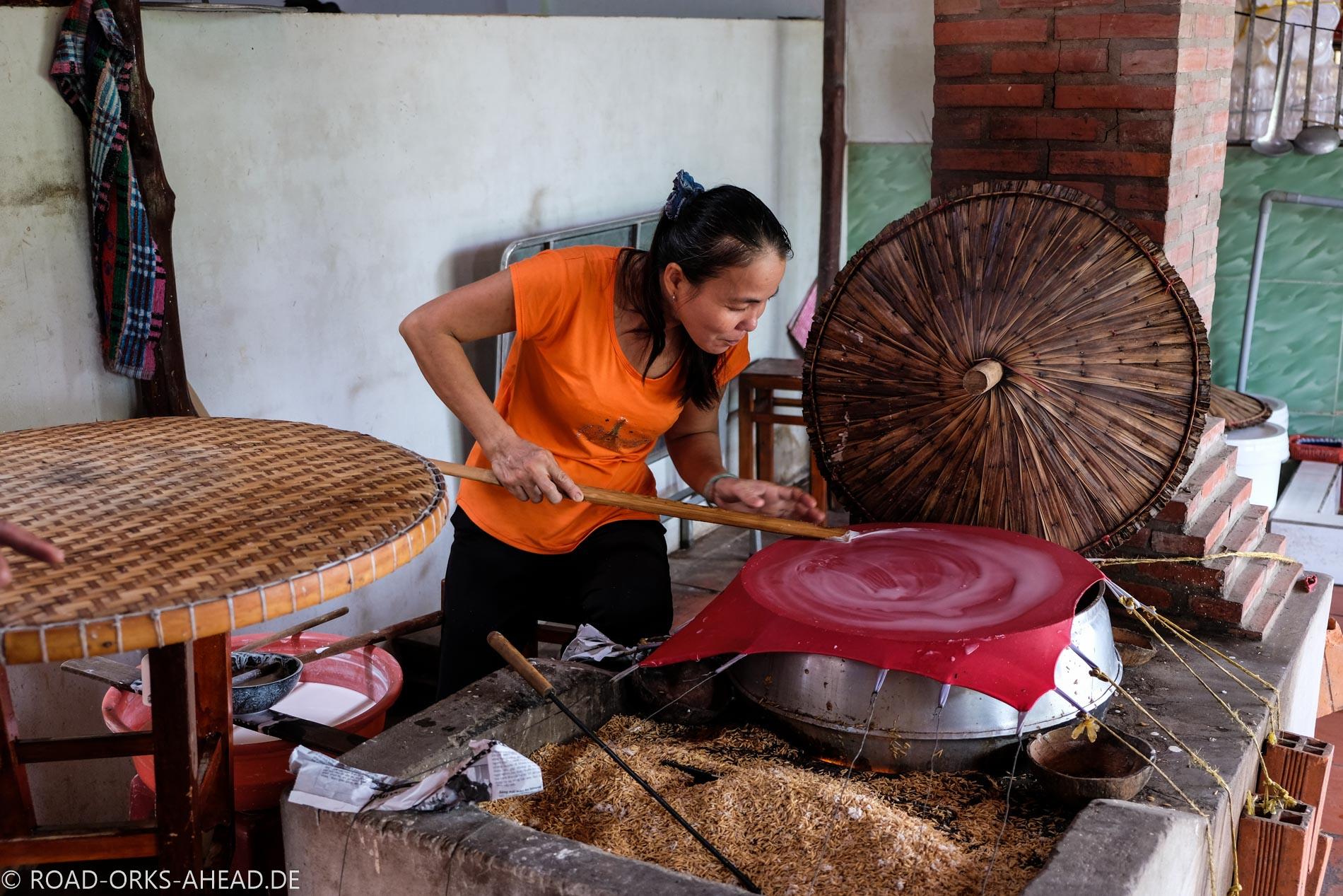 Reispapierherstellung