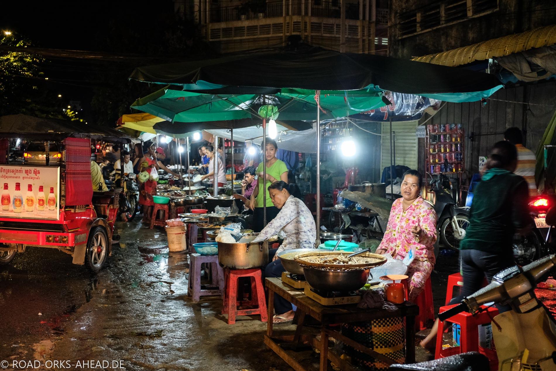 Der Straßenmarkt macht keine Pause