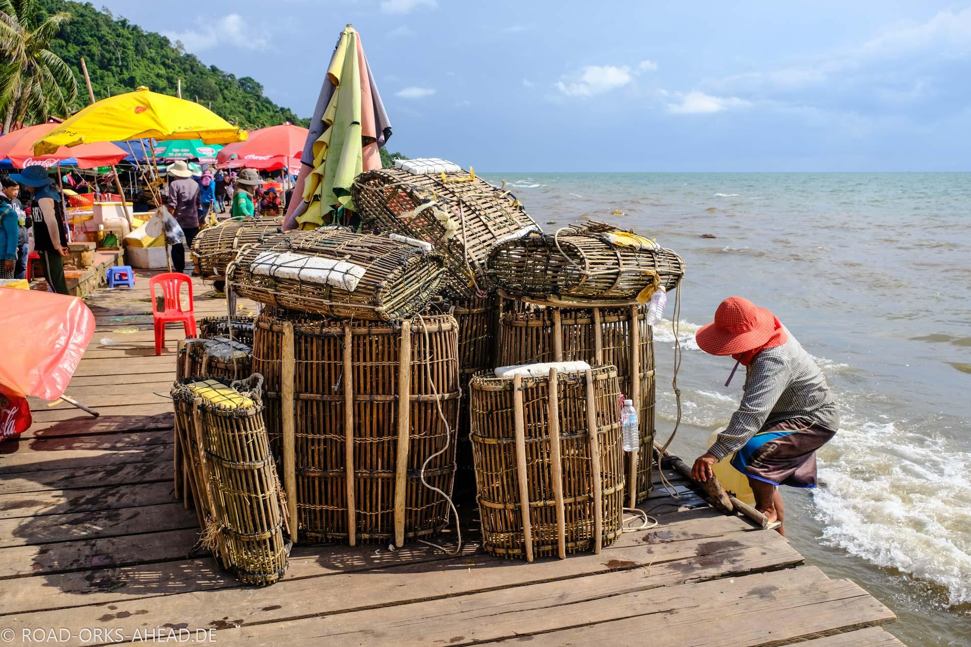 Der Krabbenmarkt in Kep