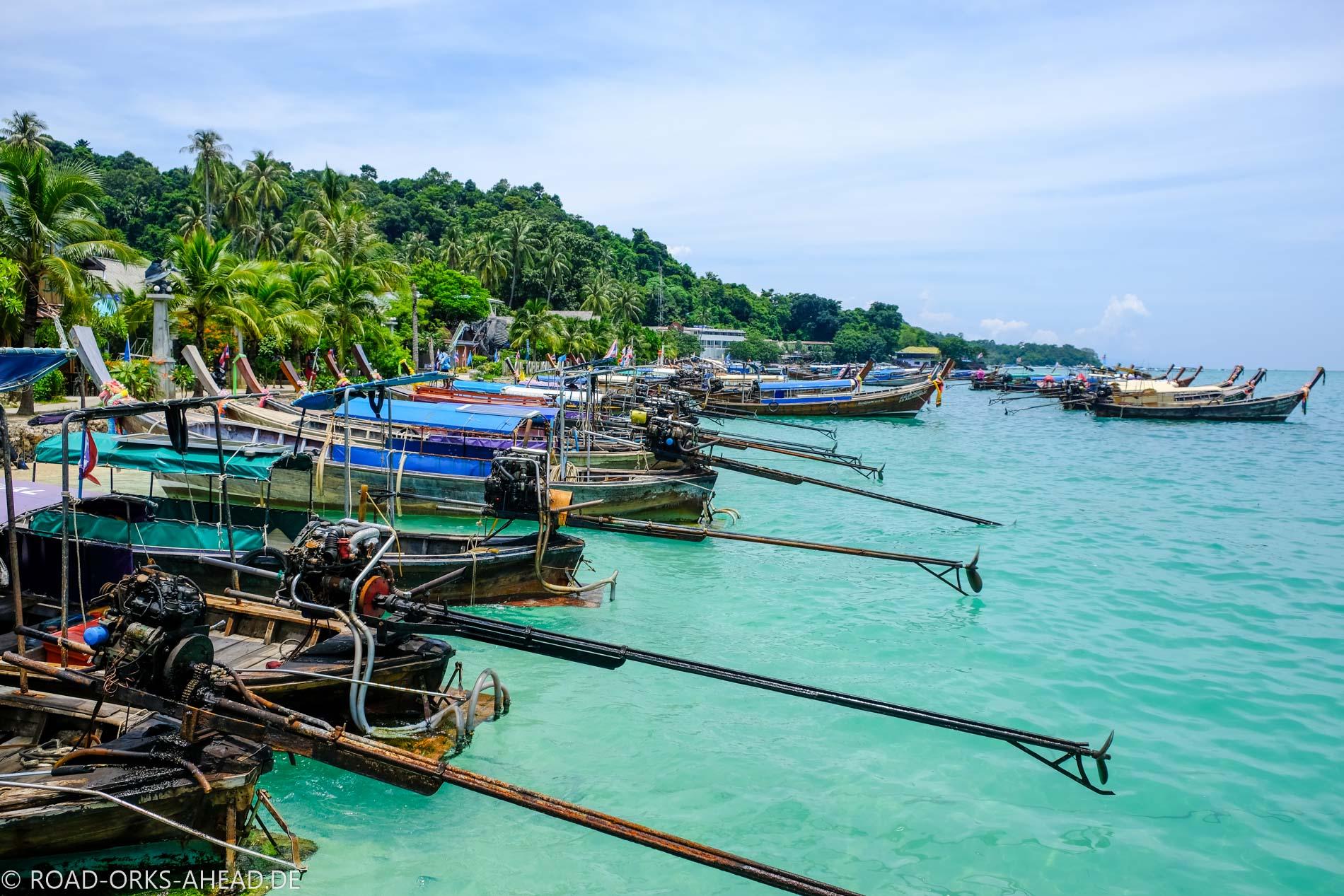 Longtailboote Ko Phi Phi
