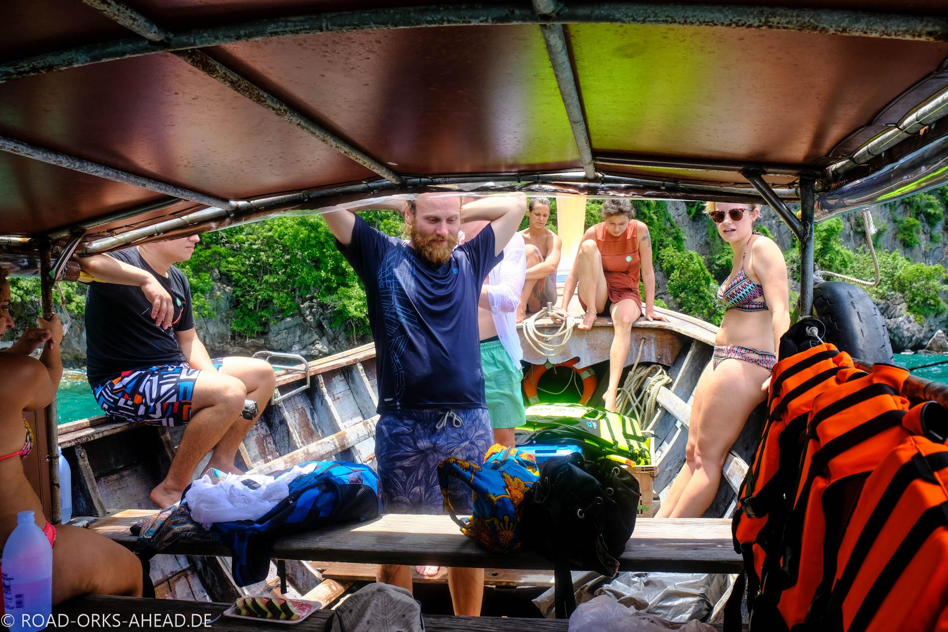Unser Boot für die Tour rund um Phi Phi