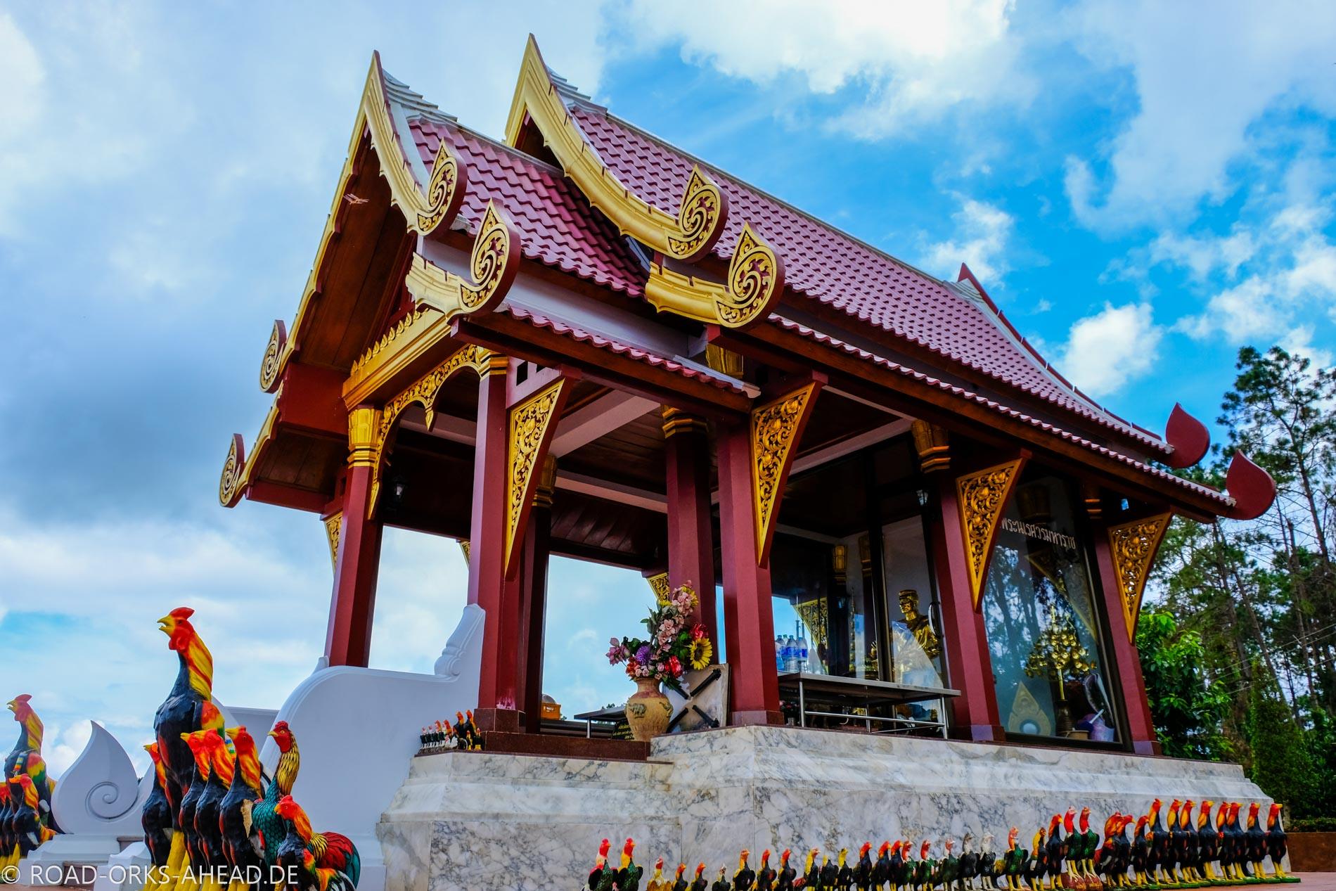Idyllischer Tempel mitten in den Bergen