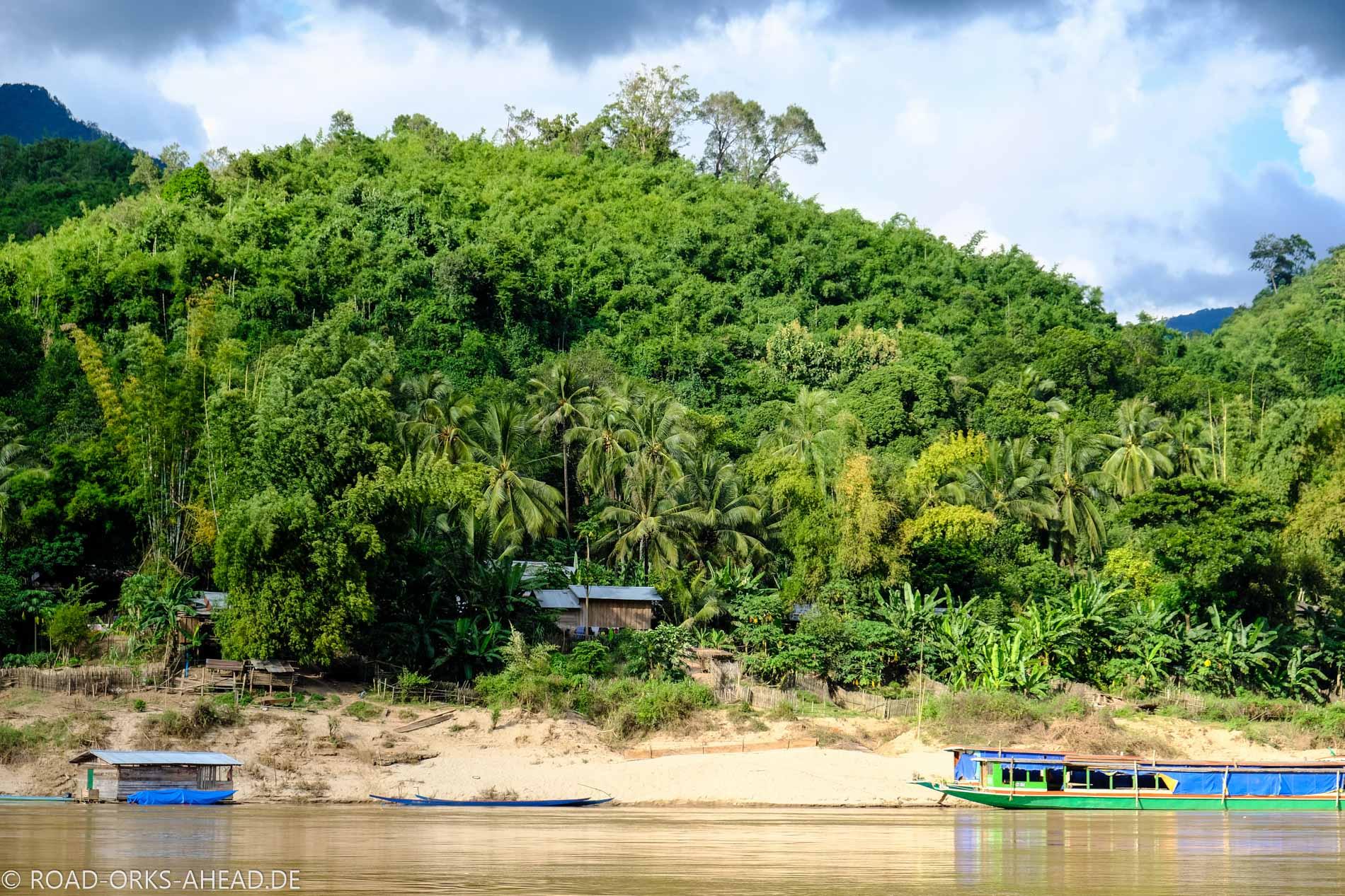 Kleines Dorf am Mekong