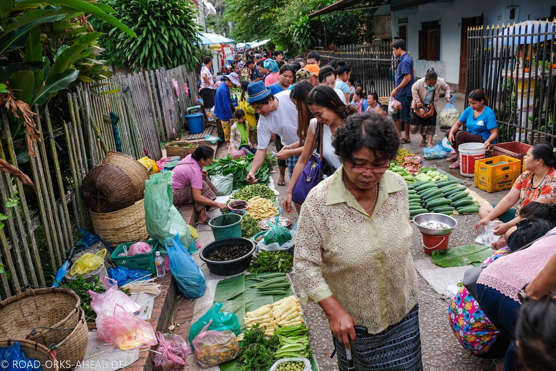 Morning market Luang Prabang