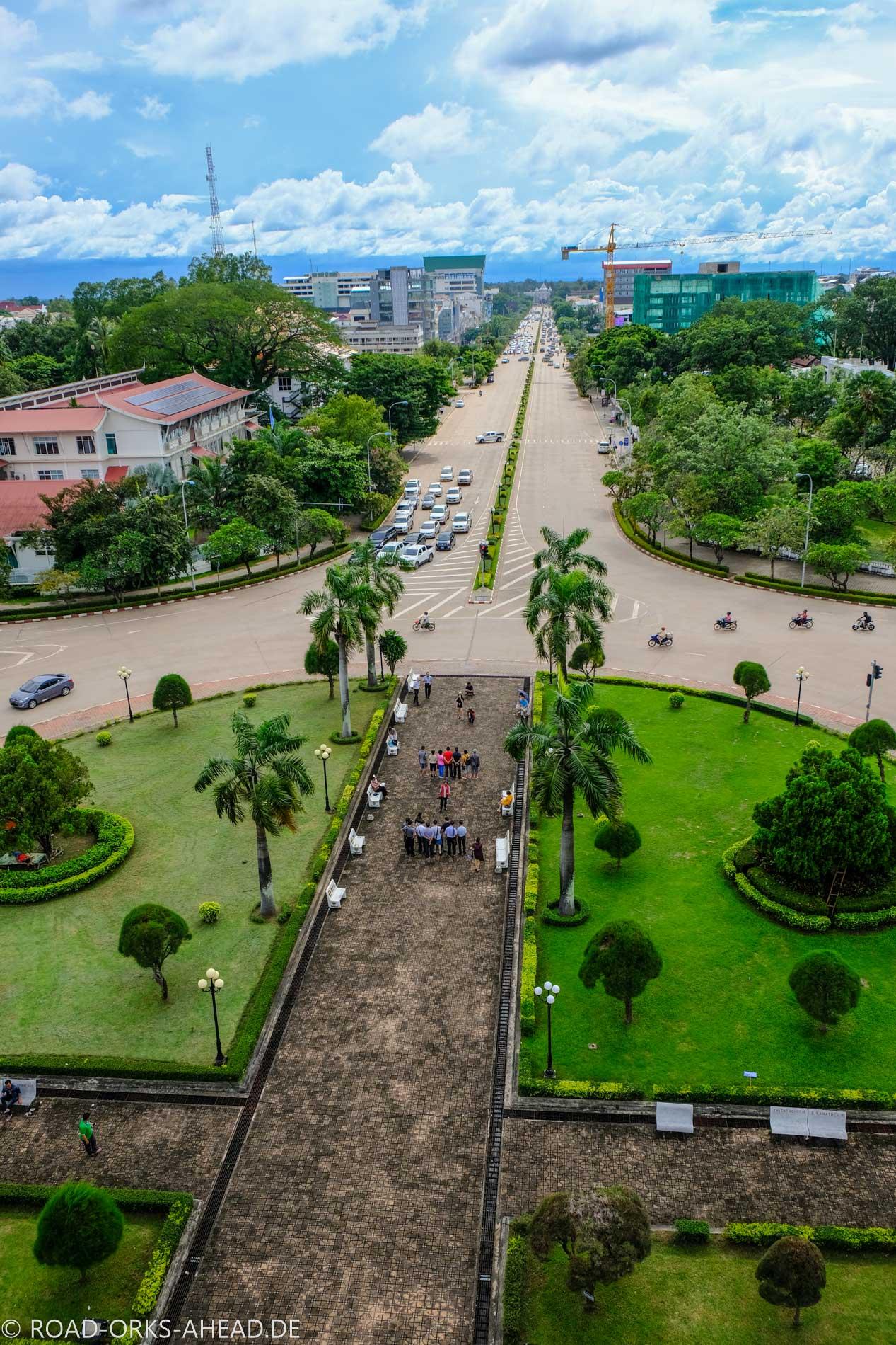 Blick über Vientiane vom Patuxai