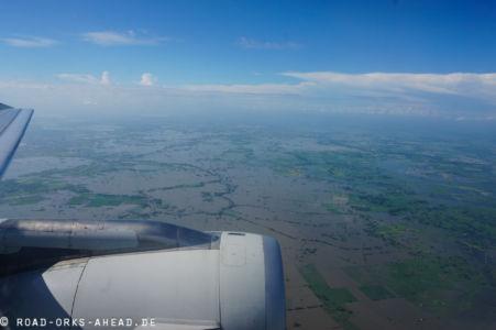 Überschwemmung in Guayaquil...schnell weg