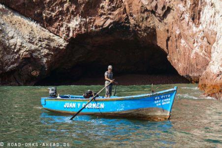 Fischer bzw. Taucher bei der Arbeit