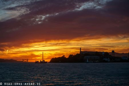 Alcatraz und Golden Gate Bridge