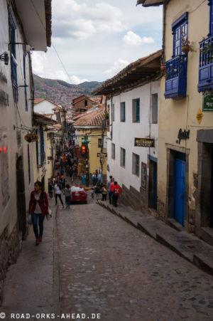 In den Straßen von Cusco