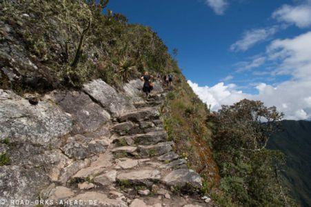 Beschwerlicher Aufstieg zum Machu Picchu Mountain