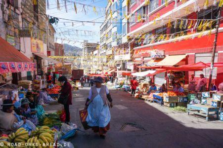 Ganz La Paz ist ein Markt