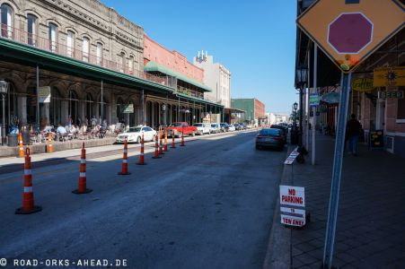 Baustelle in Historic Galveston