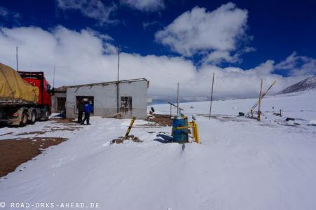 Bolivianische Grenzstation