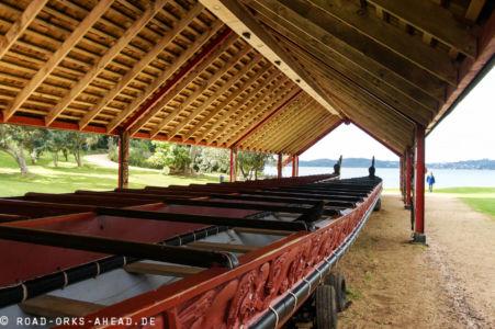 Maori Kriegs Kanu auch Waka