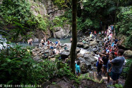 La Mina Falls - total überlaufen