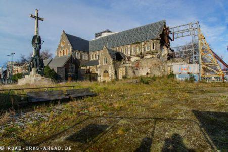Zerstörte Christchurch Kathedrale