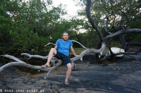 Playa Ocatal mit Nils