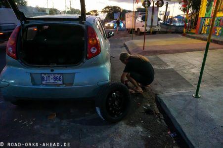 Erster Reifenwechsel... gute Quote
