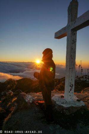 Sonnenaufgang auf dem Vulkan