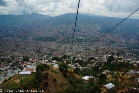 Medellin ist riesig, hier sieht man nur einen Teil