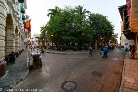 Wie überall gibts einen Plaza de Bolivar