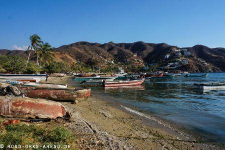 Fischerboote im Hafen von Taganga
