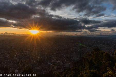 Sonnenuntergang über Bogota