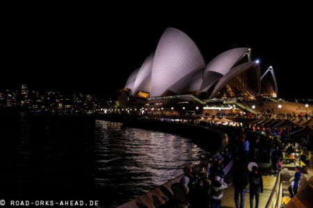 Sydney Opera House bei Nacht