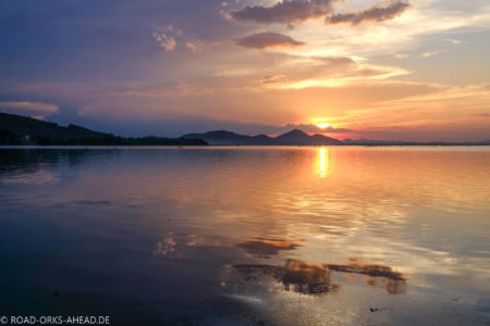 Sonnenuntergang kurz vor Hue