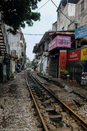 Zuglinie durch Hanoi